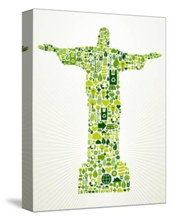 Brazil Go Green Concept Illustration