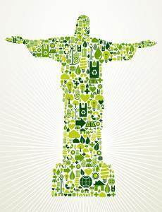 Brazil Go Green Concept Illustration by cienpies