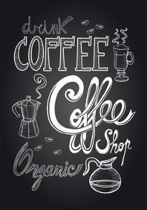 Coffee Chalkboard Illustration by cienpies