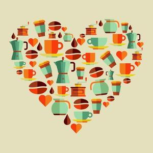 Coffee Love Beans Illustration by cienpies