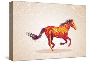 Colorful Abstract Horse Shape by cienpies
