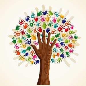 Colorful Multi-Ethnic Tree by cienpies