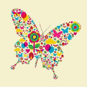 Happy Spring Time Butterfly Composition. File Available by Cienpies Design