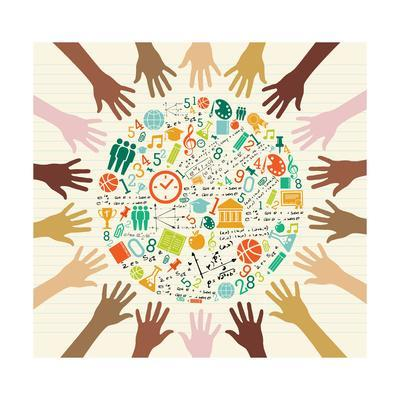 Education - Global Icons Human Hands