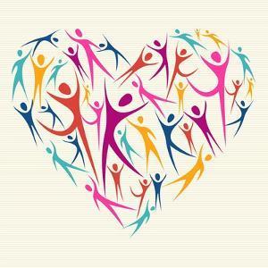 Embrace Diversity Heart by cienpies