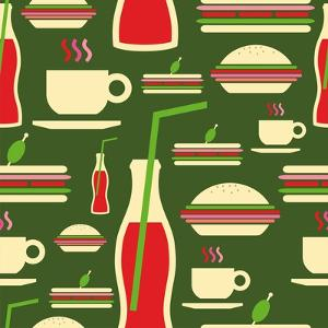 Fast Food Pattern by cienpies