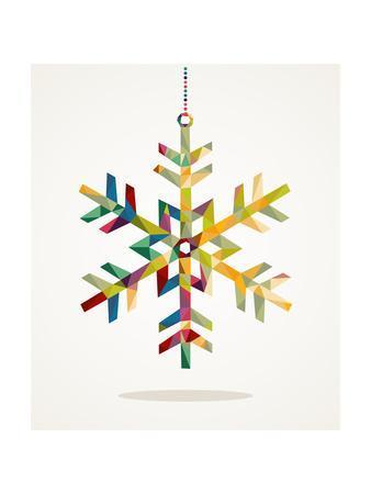 Geometric Christmas Snowflake Ornament