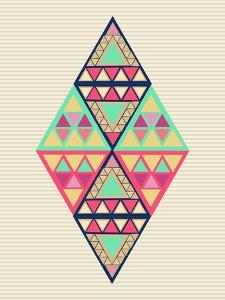 Geometric Diamond Composition by cienpies
