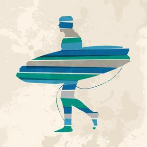 Go Surfing - Vintage Blue by cienpies