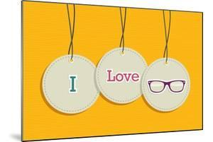 Hanging I Love Hipsters Badges by cienpies