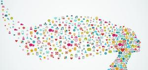 Head Shape Social Media Icons by cienpies