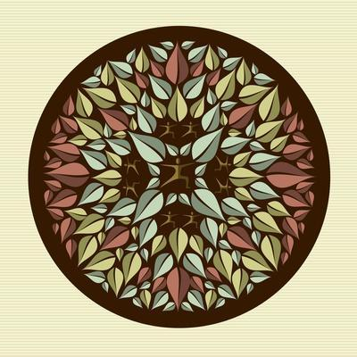 Leaves - Yoga Mandala