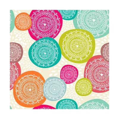 Merry Circle Pattern Background