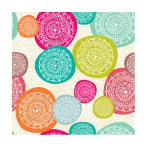 Merry Circle Pattern Background by cienpies