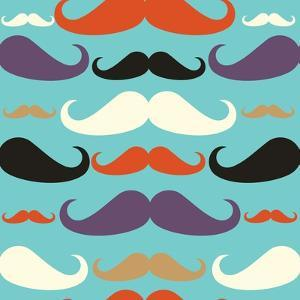 Old Fashioned Mustache Pattern by cienpies