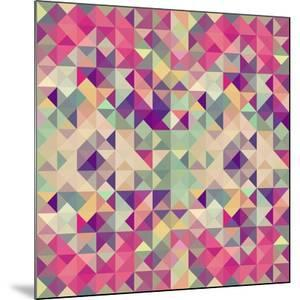 Pink Geometric Pattern by cienpies