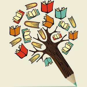 Reading Education - Pencil Tree by cienpies