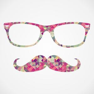 Retro Hipster Face Geometric Icons by cienpies