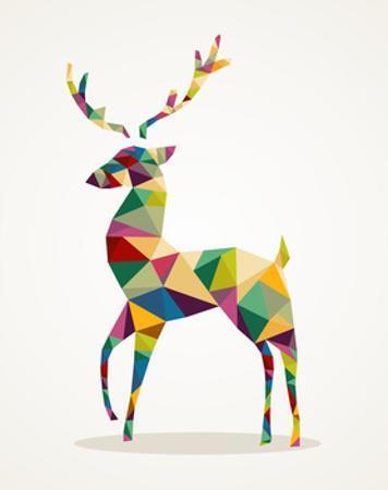 Trendy Abstract Christmas Reindeer by cienpies