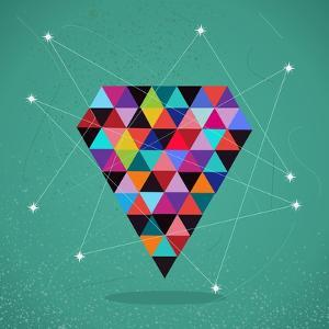 Trendy Triangle Diamond Illustration by cienpies