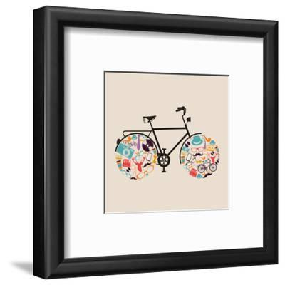 Vintage Hipster Icon Bike by cienpies