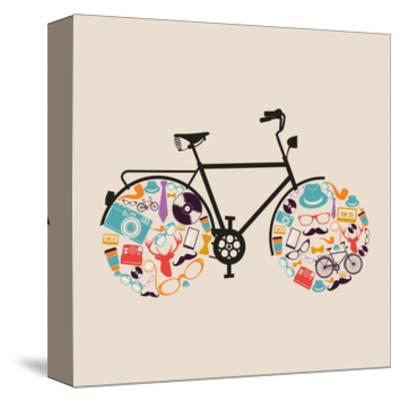 Vintage Hipster Icon Bike