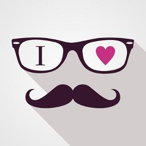 Vintage Hipster Icon Face by cienpies