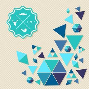 Vintage Hipster Label Icons with Geometric Elements by cienpies