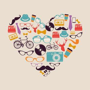 Vintage Hipsters - Love Elements by cienpies