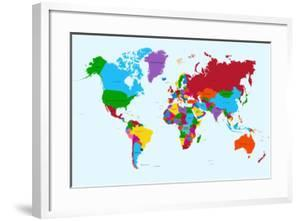 Beautiful world maps framed posters artwork for sale posters and world map colorful countries cienpiesframed art gumiabroncs Image collections