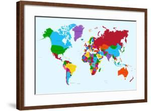 Beautiful world maps framed posters artwork for sale posters and world map colorful countries cienpiesframed art gumiabroncs Gallery