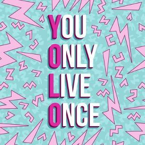 Yolo on 80s Background by cienpies