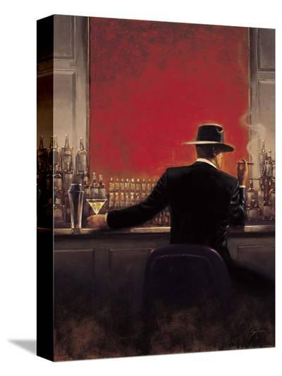 Cigar Bar-Brent Lynch-Stretched Canvas Print