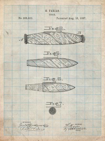 Cigar Tobacco Patent-Cole Borders-Art Print