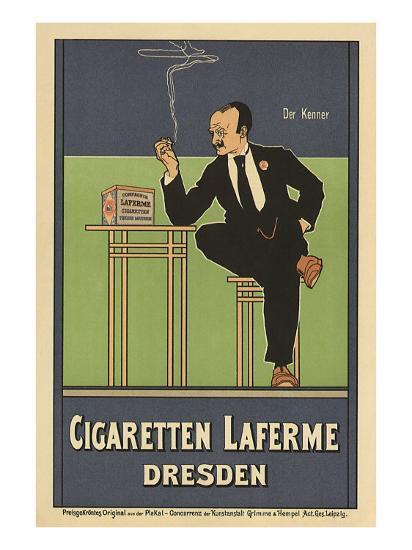 Cigaretten Laferme, Dresden, c.1897-Fritz Rehm-Giclee Print