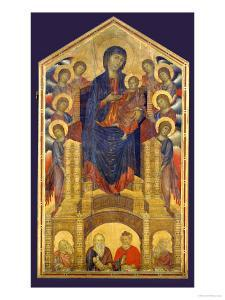 Madonna of the Holy Trinity, Painted Around 1260 for the Church of the Trinity in Florence by Cimabue