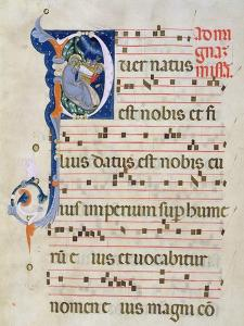Page with Historiated Initial 'P' Depicting the Nativity, from a Gradual from the Monastery of San  by Cimabue