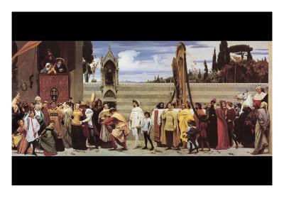 Cimabue's Celebrated Madonna-Frederick Leighton-Art Print