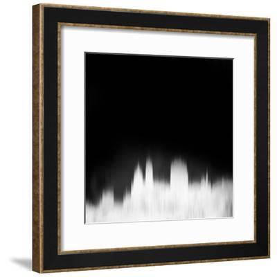Cincinnati City Skyline - White-NaxArt-Framed Art Print