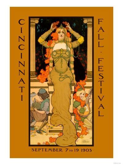 Cincinnati Fall Festival--Art Print