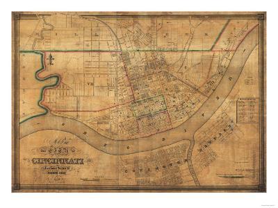 Cincinnati, Ohio - Panoramic Map-Lantern Press-Art Print