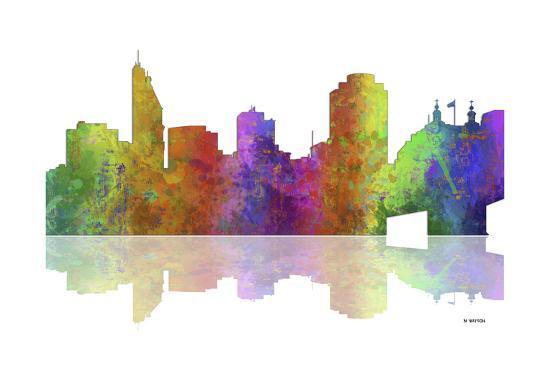 Cincinnati Ohio Skyline 1-Marlene Watson-Giclee Print