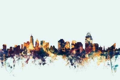 Cincinnati Ohio Skyline-Michael Tompsett-Art Print