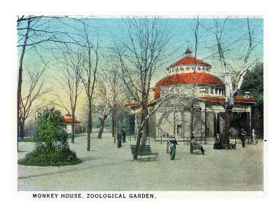 Cincinnati, Ohio - Zoological Gardens Monkey House-Lantern Press-Art Print