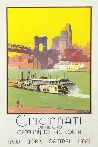 Cincinnati Travel Poster