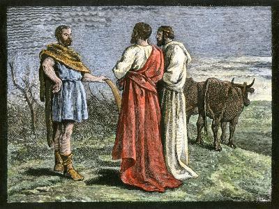 Cincinnatus on His Farm, Accepting Dictatorship of Rome from the Senate, 458 Bc--Giclee Print