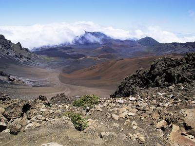 Cinder Cone and Iron-Rich Lava Weathered to Brown Oxide in the Crater of Haleakala-Robert Francis-Photographic Print