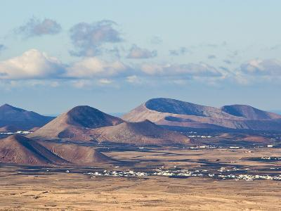 Cinder Cones in the Centre of the Island Near Tinajo, a Relic of the Island's Active Volcanic Past-Robert Francis-Photographic Print