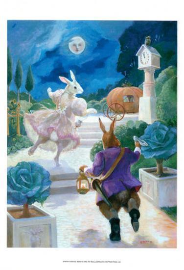 Cinderella Rabbit-Dot Bunn-Art Print