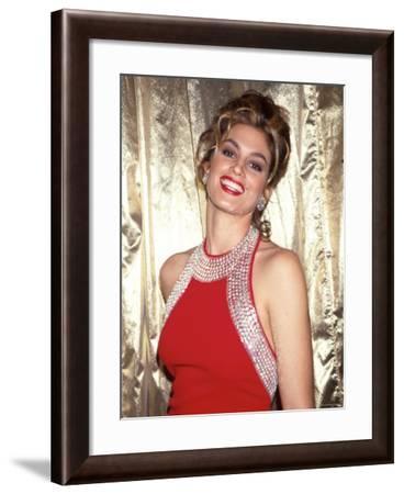 Cindy Crawford--Framed Premium Photographic Print